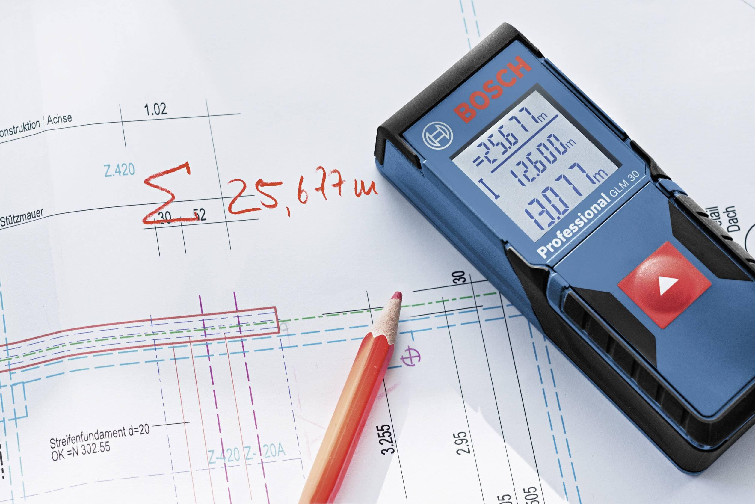 Bosch professional glm laser entfernungsmesser messbereich max