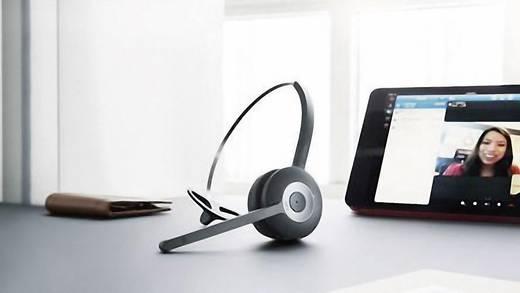 Telefon-Headset Bluetooth schnurlos, Mono Jabra Pro 925 On Ear Schwarz, Silber