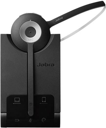 Telefon-Headset Bluetooth schnurlos, Mono Jabra Pro 935 On Ear Schwarz, Silber