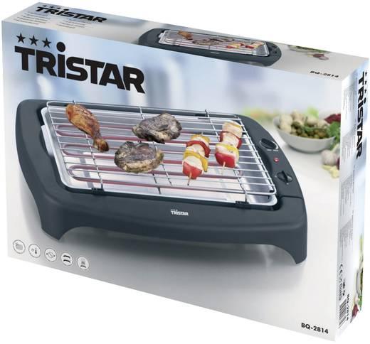 Tisch Elektro-Grill Tristar BQ-2814 mit manueller Temperatureinstellung Grill-Fläche (Durchmesser)=380 mm Schwarz