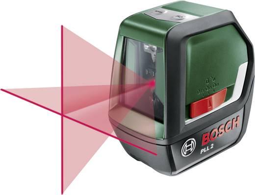Kreuzlinienlaser selbstnivellierend Bosch Home and Garden PLL2 Reichweite (max.): 10 m Kalibriert nach: Werksstandard (