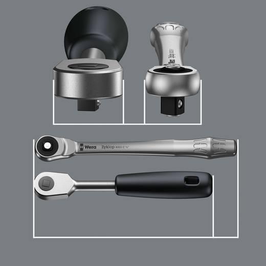 """Umschaltknarre 1/4"""" (6.3 mm) 141 mm Wera Zyklop Metal 8003 A 05004003001"""