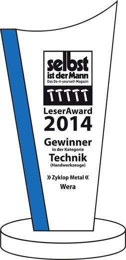 """Umschaltknarre 3/8"""" (10 mm) 222 mm Wera Zyklop Metal 8003 B 05004033001"""
