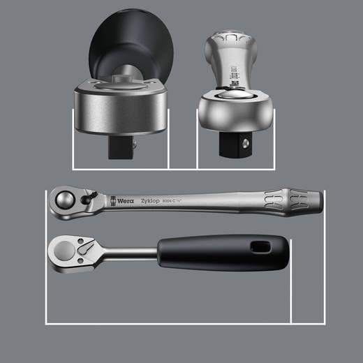 """Steckschlüsselsatz metrisch 1/4"""" (6.3 mm) 28teilig Wera Zyklop Metal 8100 SA 8 05004018001"""