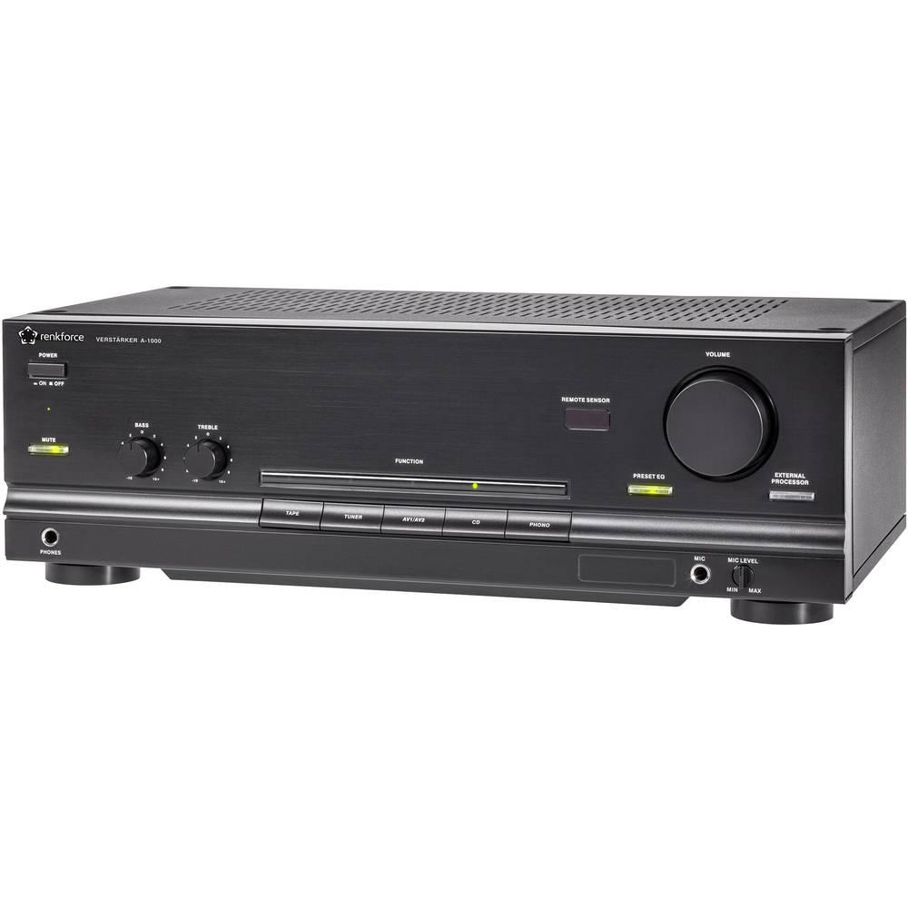 Amplificatore stereo renkforce a 1000 2 x 50 w nero in for Dormitorio 2 50 x 2 50