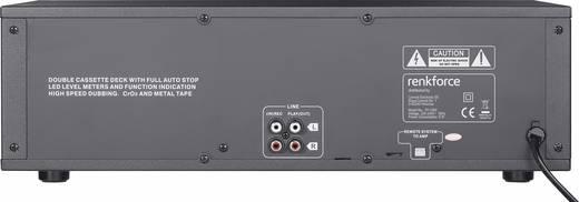 Tape Deck Renkforce TP-1000 Schwarz Doppel-Kassettendeck