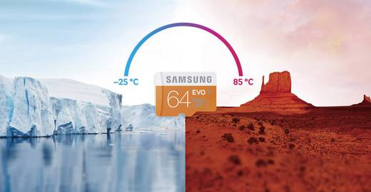 microSDXC-Karte 64 GB Samsung Evo Class 10, UHS-I inkl. SD-Adapter
