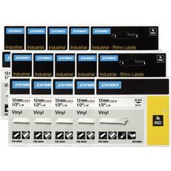 Páska do štítkovača DYMO 18444 (10x) (S0718600 (10x)), 12 mm, IND RHINO, 5,5 m, čierna / biela, 10 ks