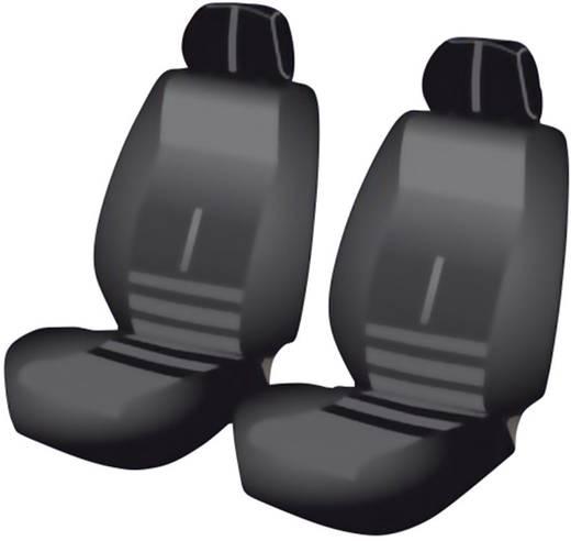 Sitzbezug 6teilig Unitec 84956 Twin Polyester Schwarz Fahrersitz, Beifahrersitz
