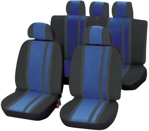 Unitec 84959 Newline Sitzbezug 14teilig Polyester Blau, Schwarz Fahrersitz, Beifahrersitz, Rücksitz