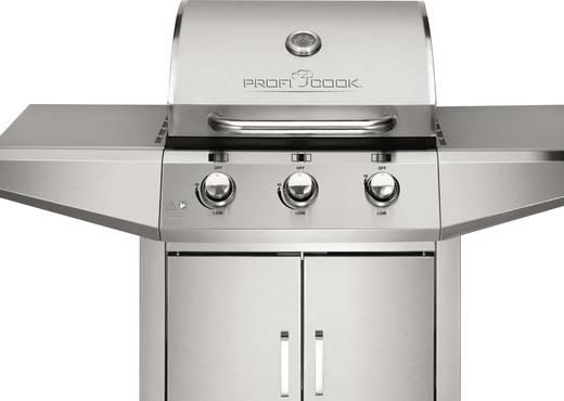 grillwagen gas grill profi cook pc gg1057 edelstahl. Black Bedroom Furniture Sets. Home Design Ideas