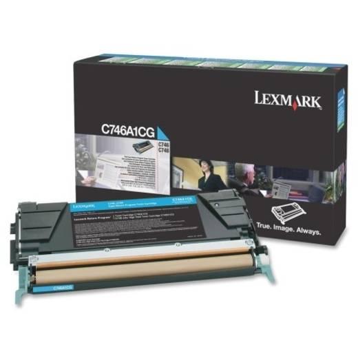 Lexmark Toner C746A1CG C746A1CG Original Cyan 7000 Seiten