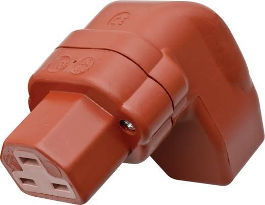 Warmgeräte-Steckverbinder C21 Serie (Netzsteckverbinder) 444 Buchse, gewinkelt Gesamtpolzahl: 2 + PE 16 A Rot Kalthoff 4