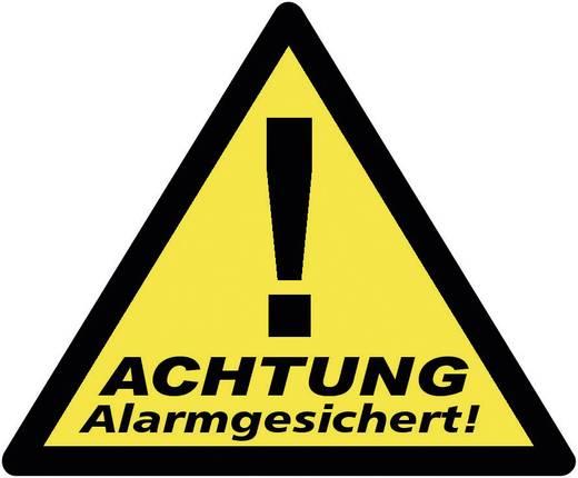 Warnaufkleber Achtung Alarmgesichert Sprachen Deutsch 3er Set (B x H) 85 mm x 70 mm 40201
