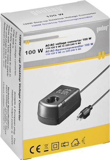 Goobay SPW MW 1P100FV 100W AC/AC 110 auf 230 V Spannungswandler AC/AC 100 W
