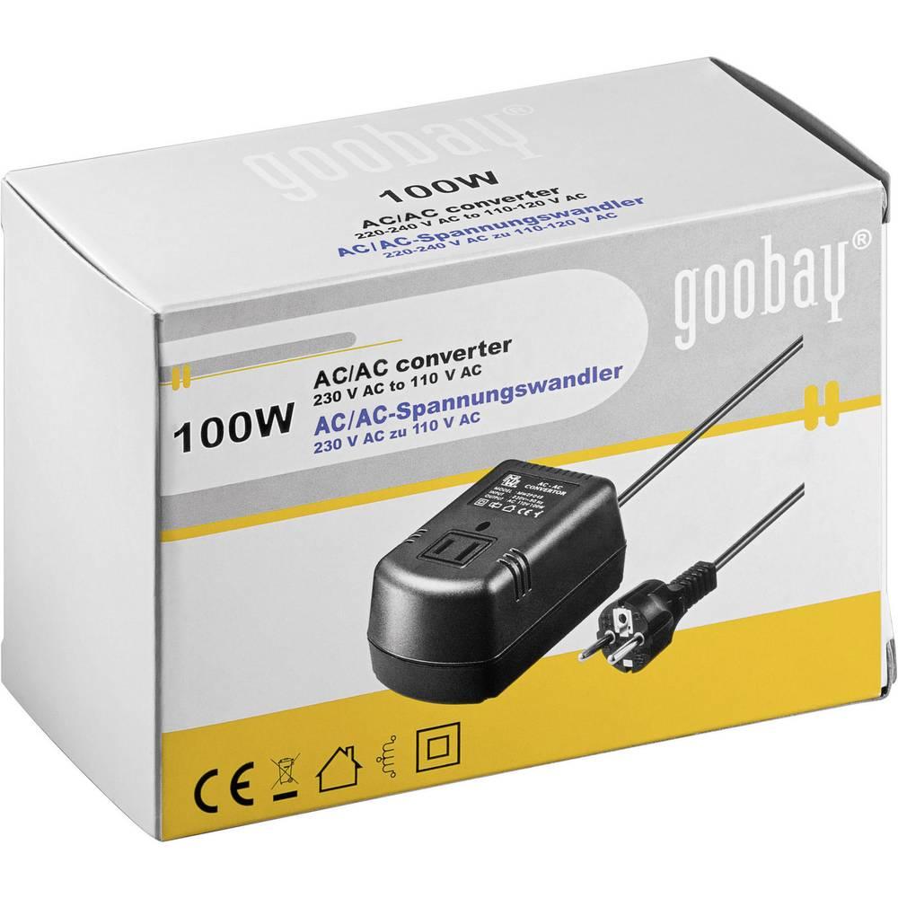 Vorschalttransformator Goobay MW2P100 100 W 230 V/AC - 110 - 120 V ...