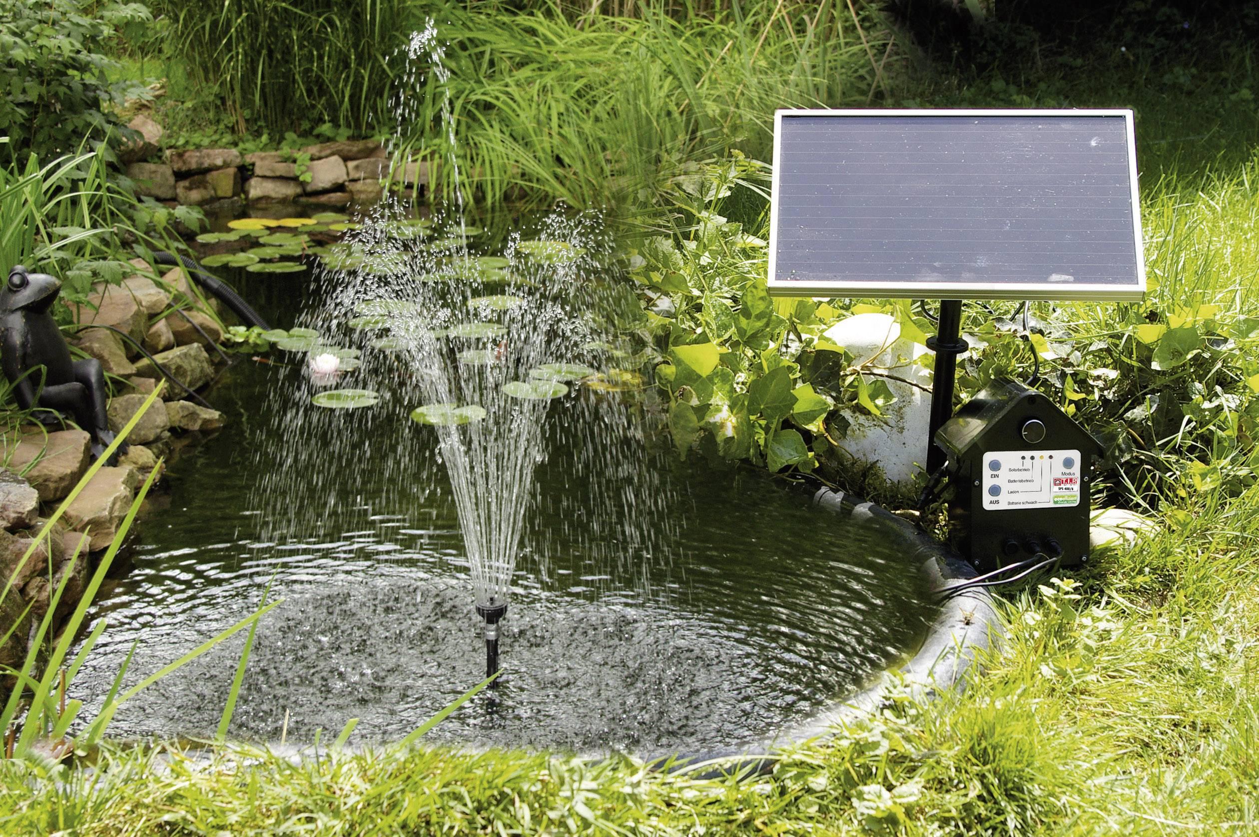 Solarbetriebene Springbrunnenpumpe