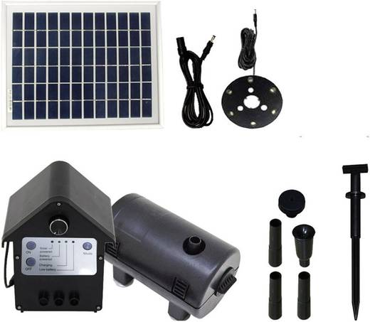 Solar-Pumpenset mit Akkuspeicher, mit Beleuchtung 800 l/h T.I.P. Set SPS 800/12 30334