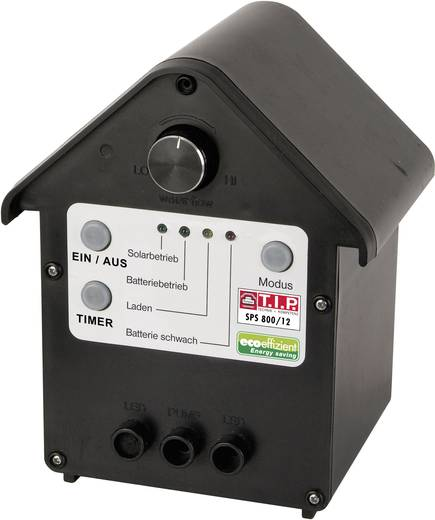 T.I.P. Set SPS 800/12 30334 Solar-Pumpenset mit Akkuspeicher, mit Beleuchtung 800 l/h