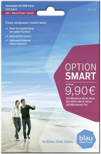 Blau.de Startpaket Smartoption Prepaid-Karte ohne Vertragsbindung
