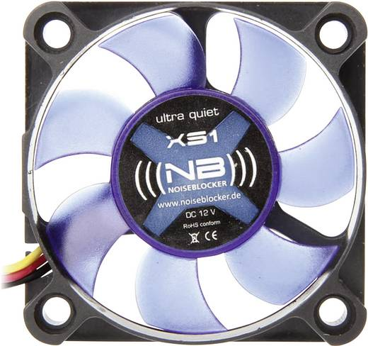 PC-Gehäuse-Lüfter NoiseBlocker BlackSilent XS1 Schwarz, Blau (translucent) (B x H x T) 50 x 50 x 10 mm