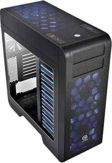 Tower Gaming-Gehäuse Thermaltake Core V71 Schwarz 3 Vorinstallierte LED Lüfter, Seitenfenster, mit Lüftungsschlitzen, St