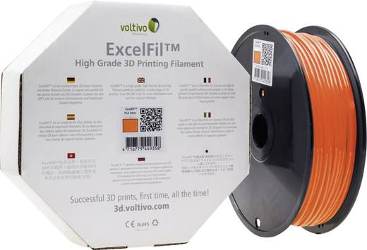 Filament Voltivo ExcelFil™ PLA 2.85 mm Orange 1 kg
