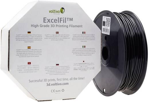 Filament Voltivo ExcelFil™ PLA 2.85 mm Schwarz 1 kg