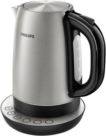Wasserkocher schnurlos Philips HD9326/21 Edelstahl, Schwarz