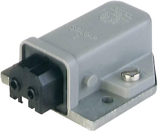 Netz-Steckverbinder Serie (Netzsteckverbinder) STAKAP Buchse, Einbau horizontal Gesamtpolzahl: 2 + PE 16 A Grau Hirschm