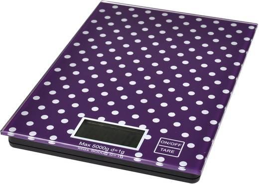 Küchenwaage digital TKG Team Kalorik EKS 1001 PWD Wägebereich (max.)=5 kg Violett, Weiß
