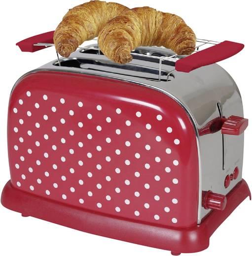 Toaster mit Brötchenaufsatz TKG Team Kalorik TKG TO 1008 RWD Rot/Weiß