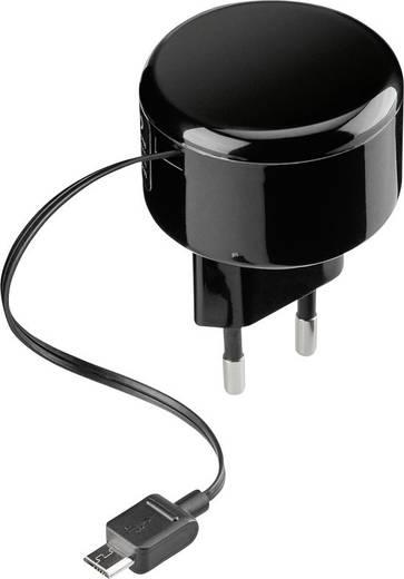 USB-Ladegerät Goobay TRA micro USB 1A schwarz Rolle 65353 Steckdose Ausgangsstrom (max.) 1000 mA 1 x Micro-USB