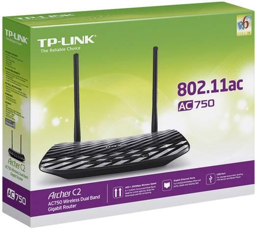 TP-LINK Archer C2 WLAN Router 2.4 GHz, 5 GHz 750 MBit/s
