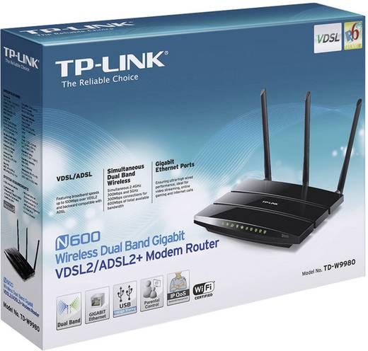TP-LINK TD-W9980B WLAN Router mit Modem Integriertes Modem: ADSL, ADSL2+, VDSL 2.4 GHz, 5 GHz 600 MBit/s