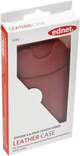 iPhone Tasche ednet Handyledertasche Passend für: Apple iPhone 4, Rot