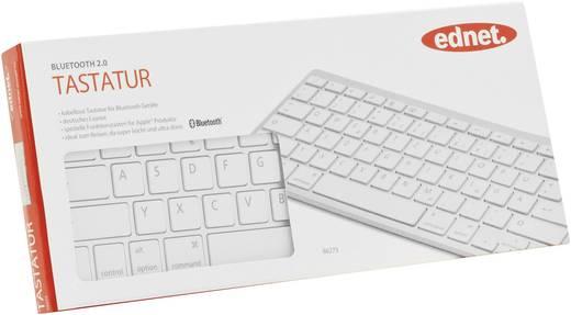 Bluetooth-Tastatur ednet Bluetooth® 3.0 Tastatur Weiß