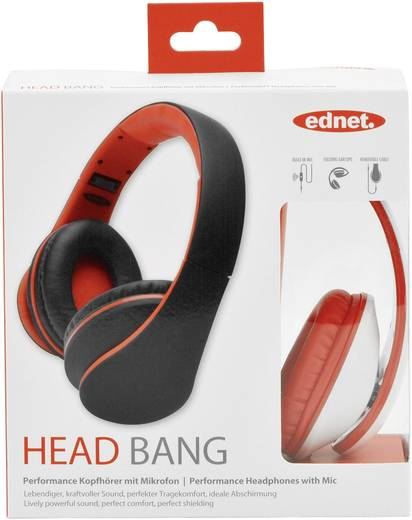 Kopfhörer ednet HEAD BANG hoofdtelefoon Over Ear Headset Weiß