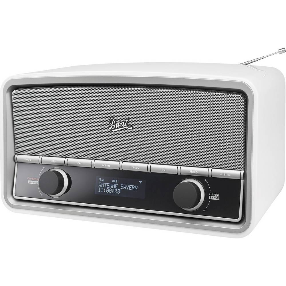 radio de bureau dab dual nr 5 aux bluetooth dab fm blanc brillant sur le site internet. Black Bedroom Furniture Sets. Home Design Ideas