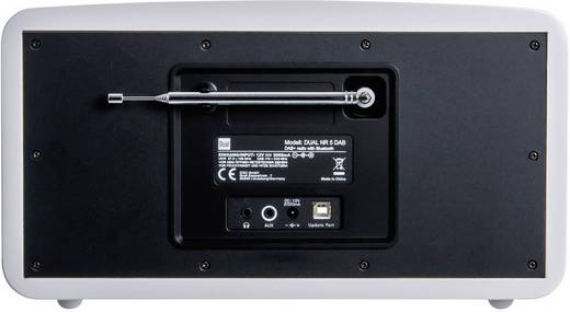 Dual NR 5 DAB+ Tischradio AUX, Bluetooth®, DAB+, UKW Weiß (glänzend)