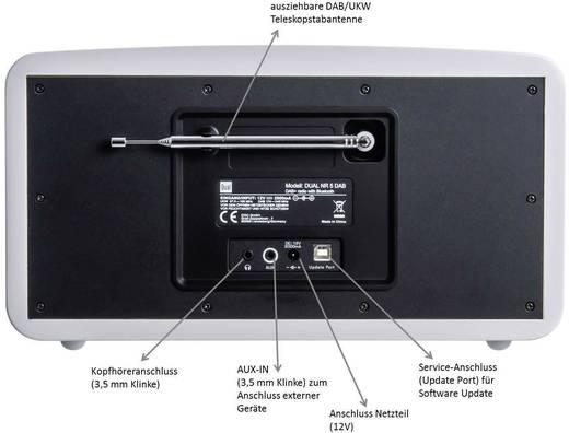 DAB+ Tischradio Dual NR 5 AUX, Bluetooth®, DAB+, UKW Weiß (glänzend)
