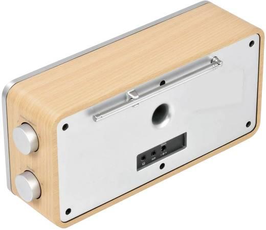 Dual IR 6S Internet Tischradio AUX, DAB+, Internetradio Spotify Holz, Schwarz