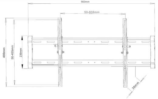 "TV-Wandhalterung 139,7 cm (55"") - 203,2 cm (80"") Neigbar Vivanco WT 8065"