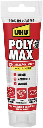 UHU POLY MAX EXPRESS TRANSPARENT Klebe- und Dichtmasse Farbe Transparent 47890 75 g