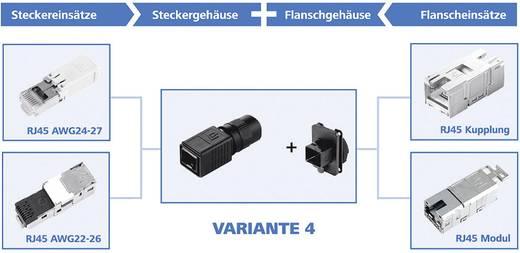 RJ45-Steckerset Variante 4 Stecker, gerade Pole: 8P8C J80026A0016 Schwarz Telegärtner J80026A0016 1 St.