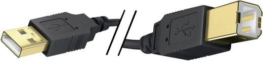 USB 2.0 Anschlusskabel [1x USB 2.0 Stecker A - 1x USB 2.0 Stecker B] 3 m Schwarz vergoldete Steckkontakte Inakustik
