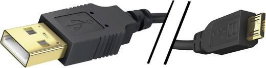 USB 2.0 Anschlusskabel [1x USB 2.0 Stecker A - 1x USB 2.0 Stecker Micro-B] 3 m Schwarz vergoldete Steckkontakte Inakusti
