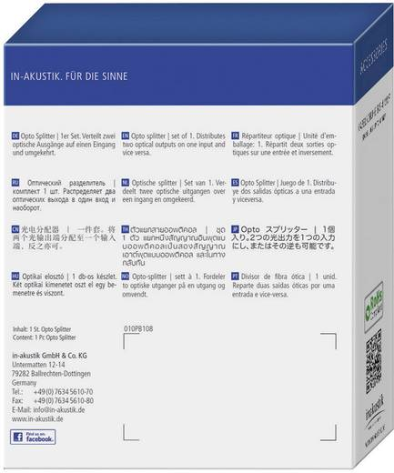2 Port Toslink-Splitter Inakustik Splitter optique Premium Schwarz