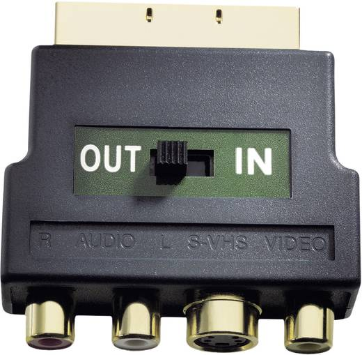 Cinch / S-Video / SCART TV, Receiver Adapter [3x Cinch-Buchse, S-Video-Buchse - 1x SCART-Stecker] 0 m Schwarz Inakustik
