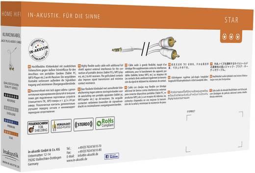 Cinch / Klinke Audio Anschlusskabel [2x Cinch-Stecker - 1x Klinkenstecker 3.5 mm] 7.50 m Weiß vergoldete Steckkontakte I